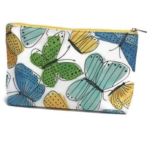2 PK Clinique butterfly makeup/cosmetic bag C0135